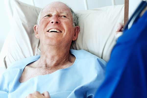 Smiling palliative patient
